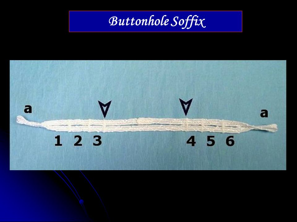 Buttonhole Soffix