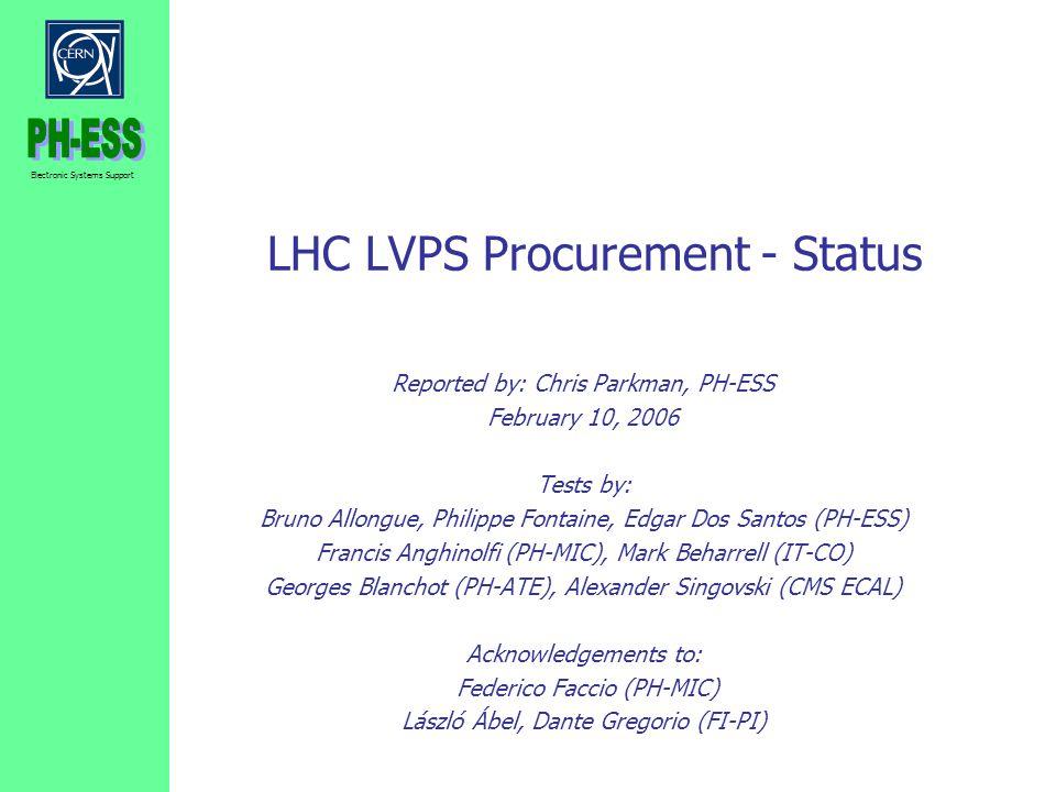 LHC LVPS Procurement - Status