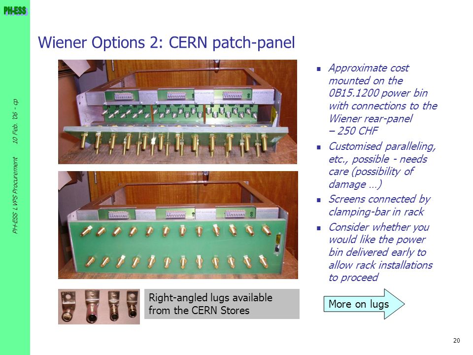 Wiener Options 2: CERN patch-panel