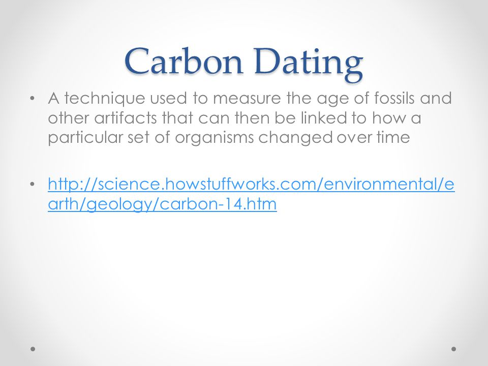 What phrase..., carbon dating used determine age fossils