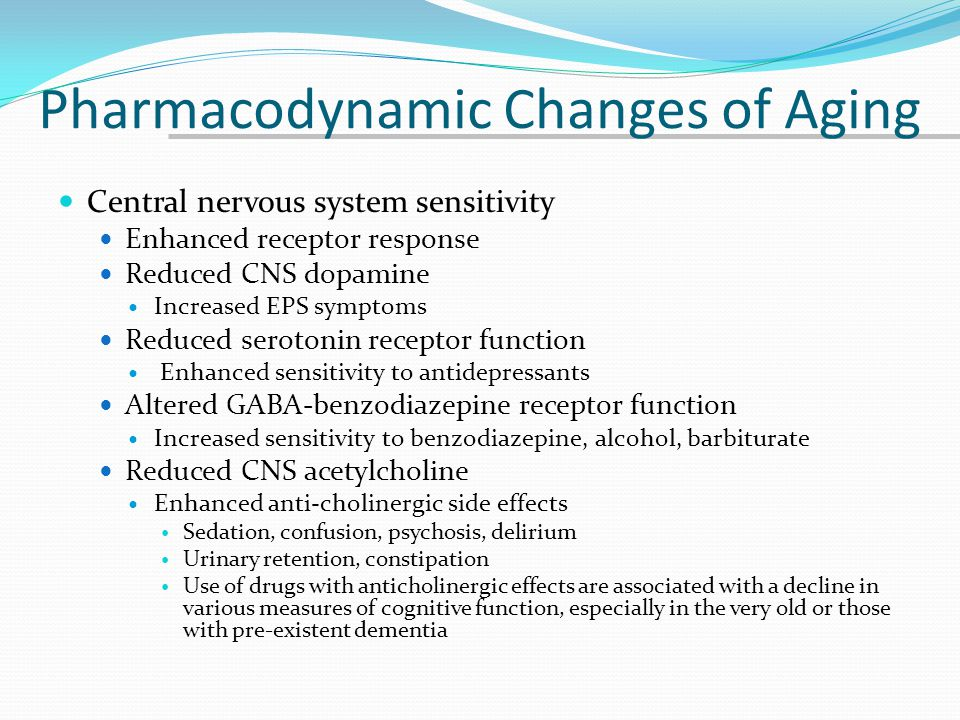 Pharmacodynamic Changes of Aging