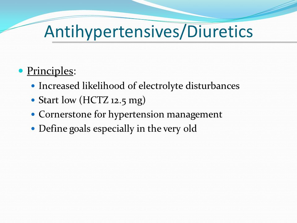 Antihypertensives/Diuretics