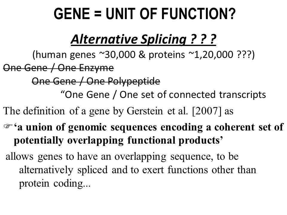 (human genes ~30,000 & proteins ~1,20,000 )