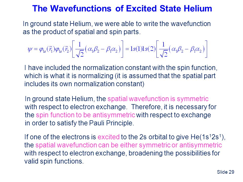The Wavefunctions of Excited State Helium