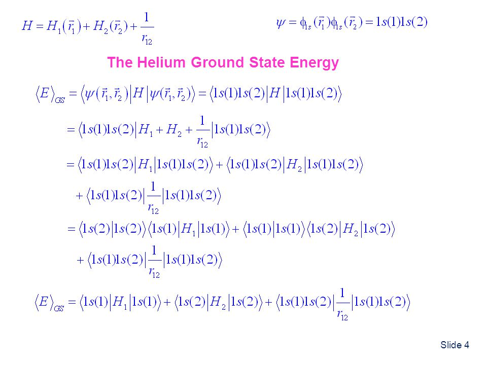 The Helium Ground State Energy