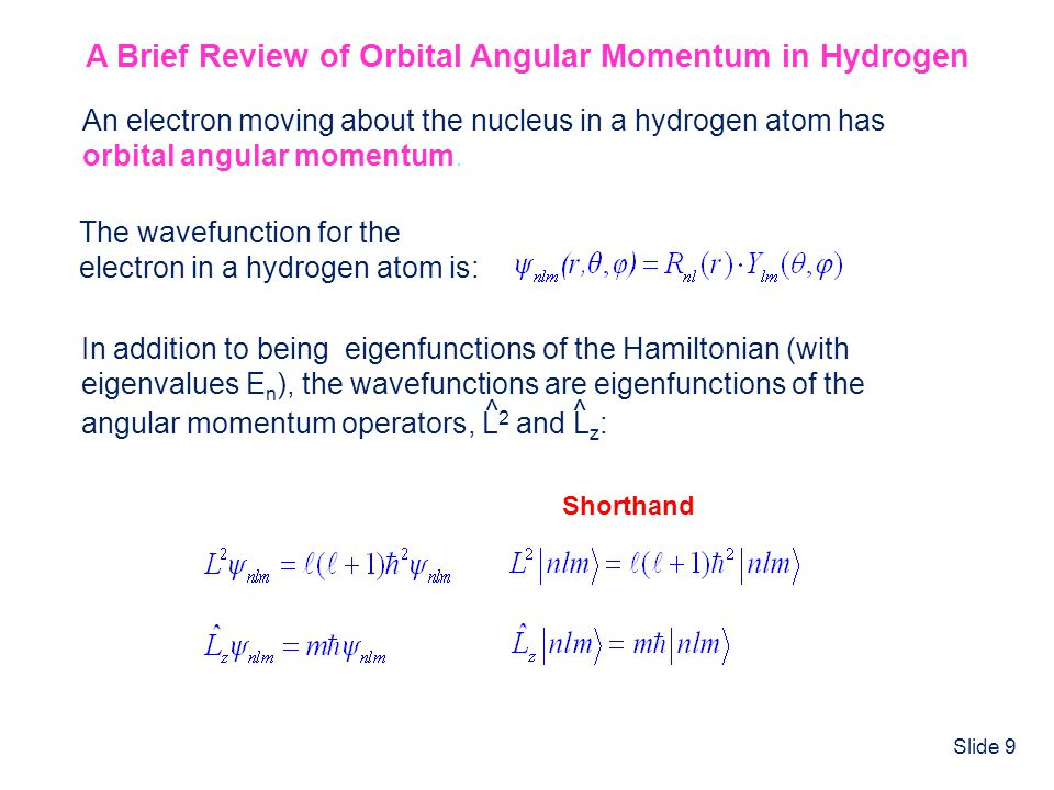 A Brief Review of Orbital Angular Momentum in Hydrogen
