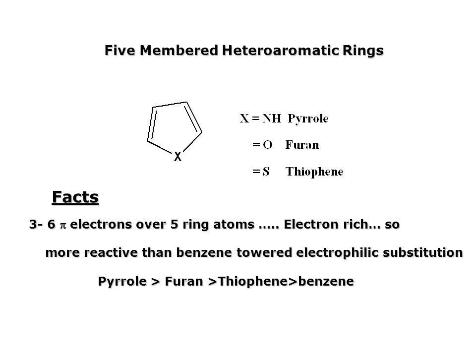 Facts Five Membered Heteroaromatic Rings