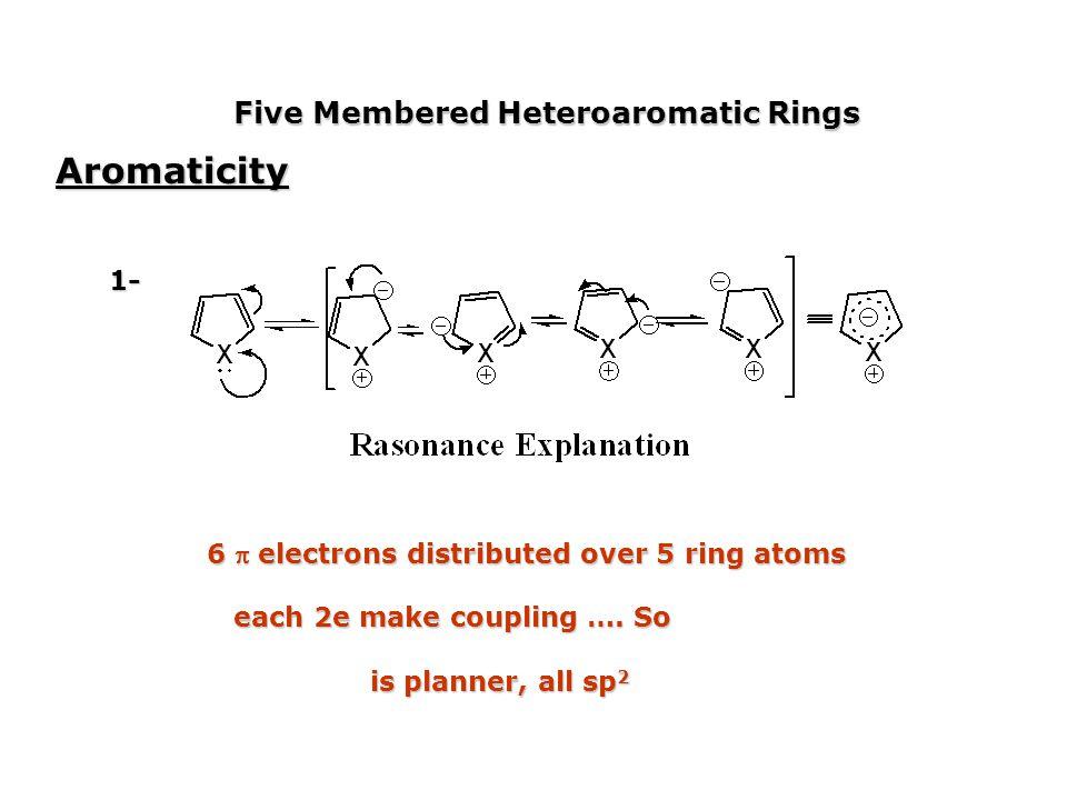 Aromaticity Five Membered Heteroaromatic Rings 1-