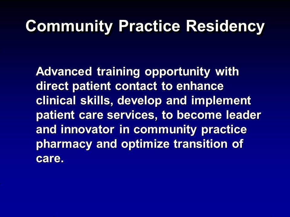 Community Practice Residency