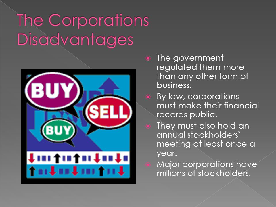The Corporations Disadvantages