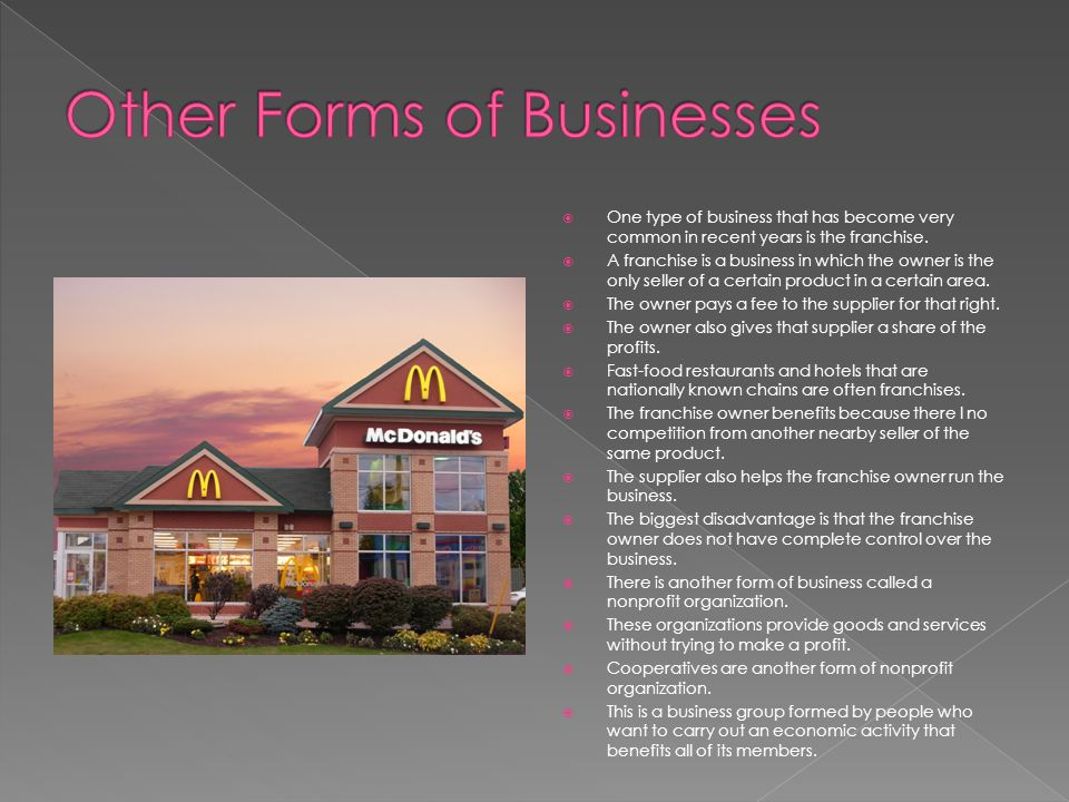 Other Forms of Businesses