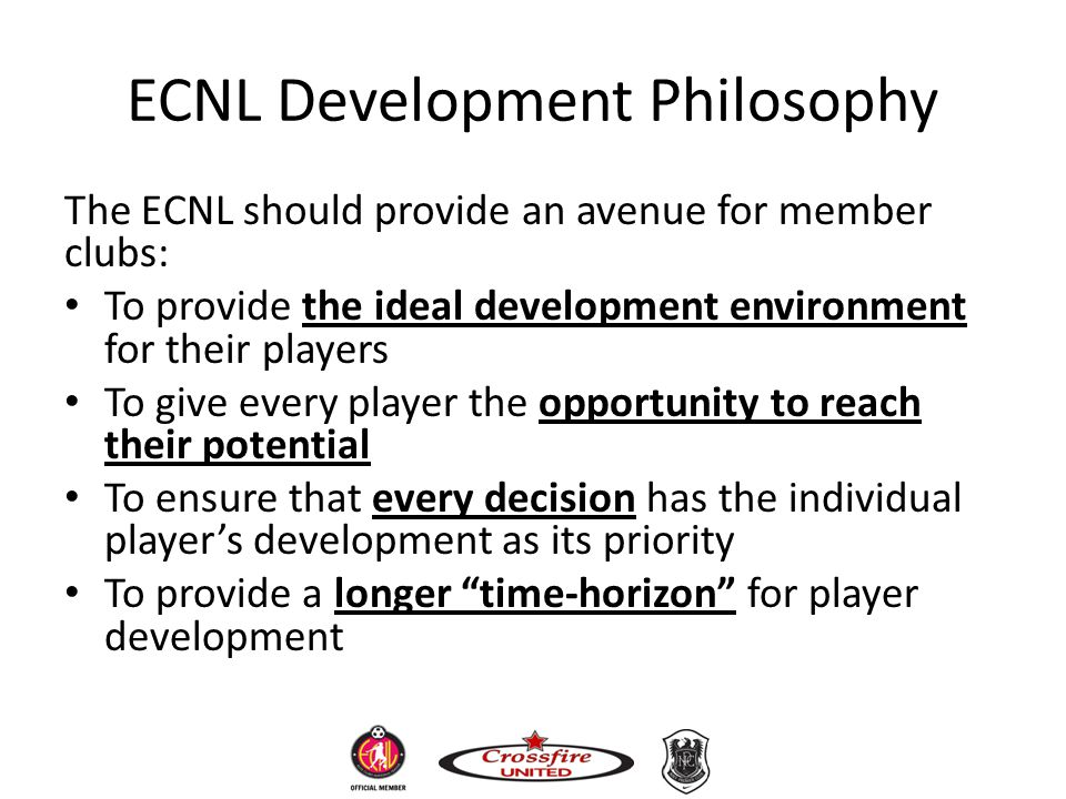 ECNL Development Philosophy