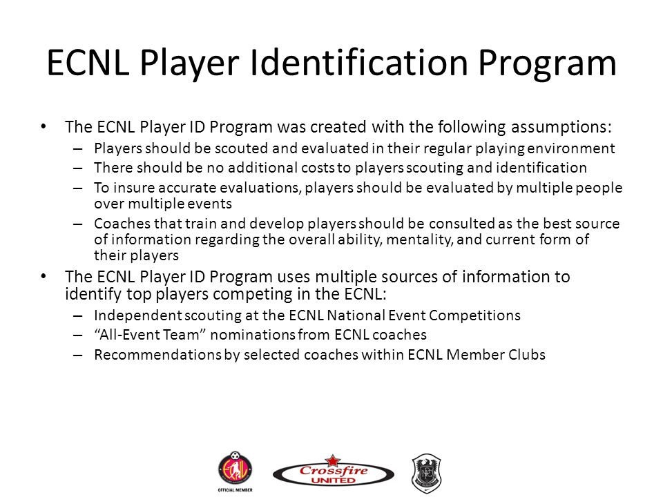 ECNL Player Identification Program