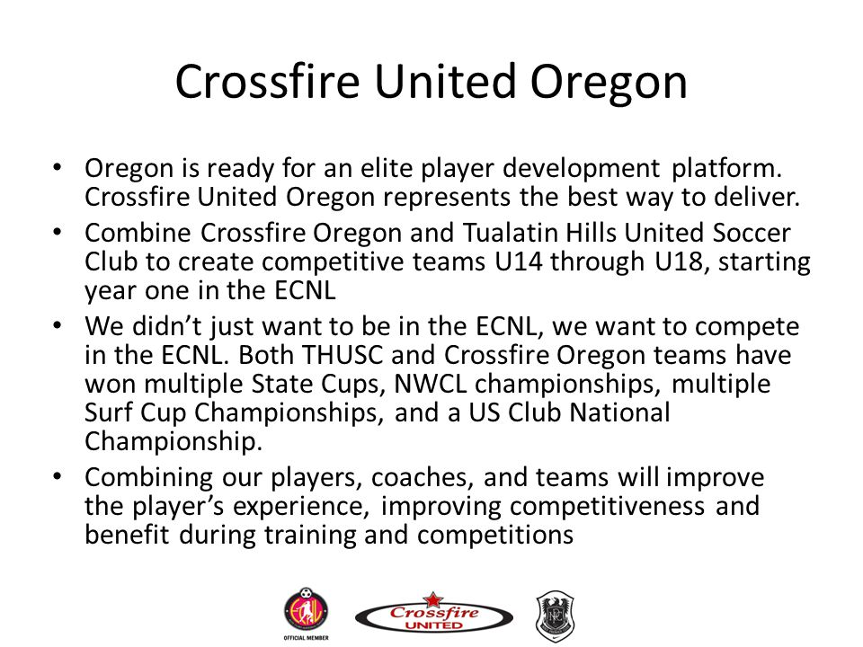 Crossfire United Oregon