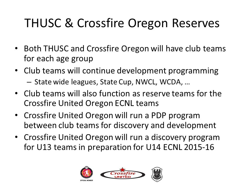THUSC & Crossfire Oregon Reserves