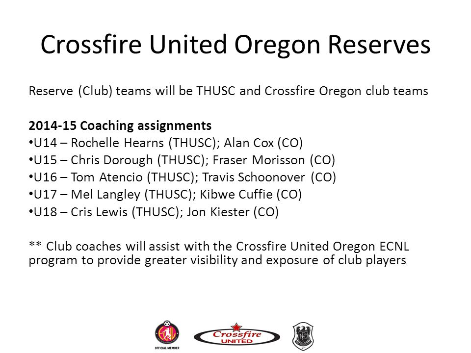 Crossfire United Oregon Reserves