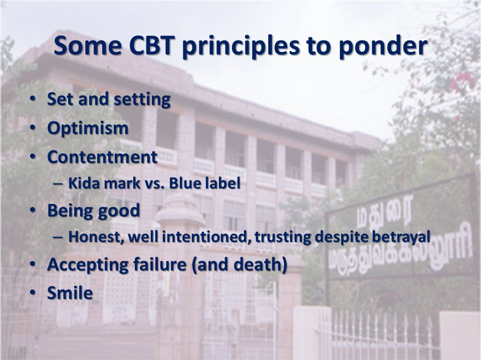Some CBT principles to ponder