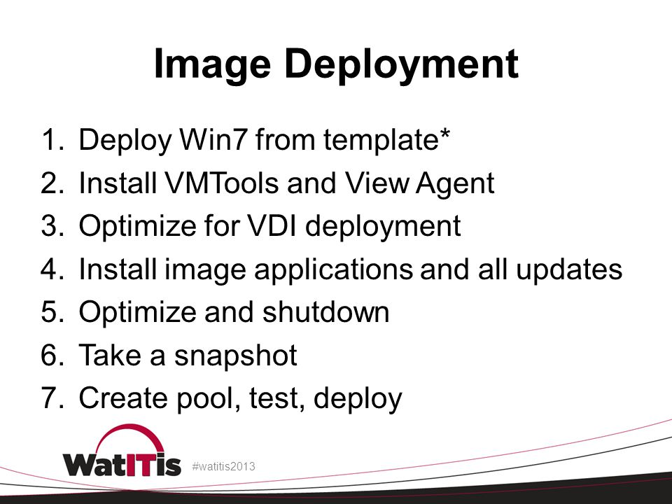 Image Deployment Deploy Win7 from template*