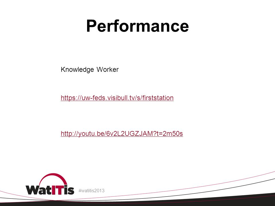 Performance Knowledge Worker