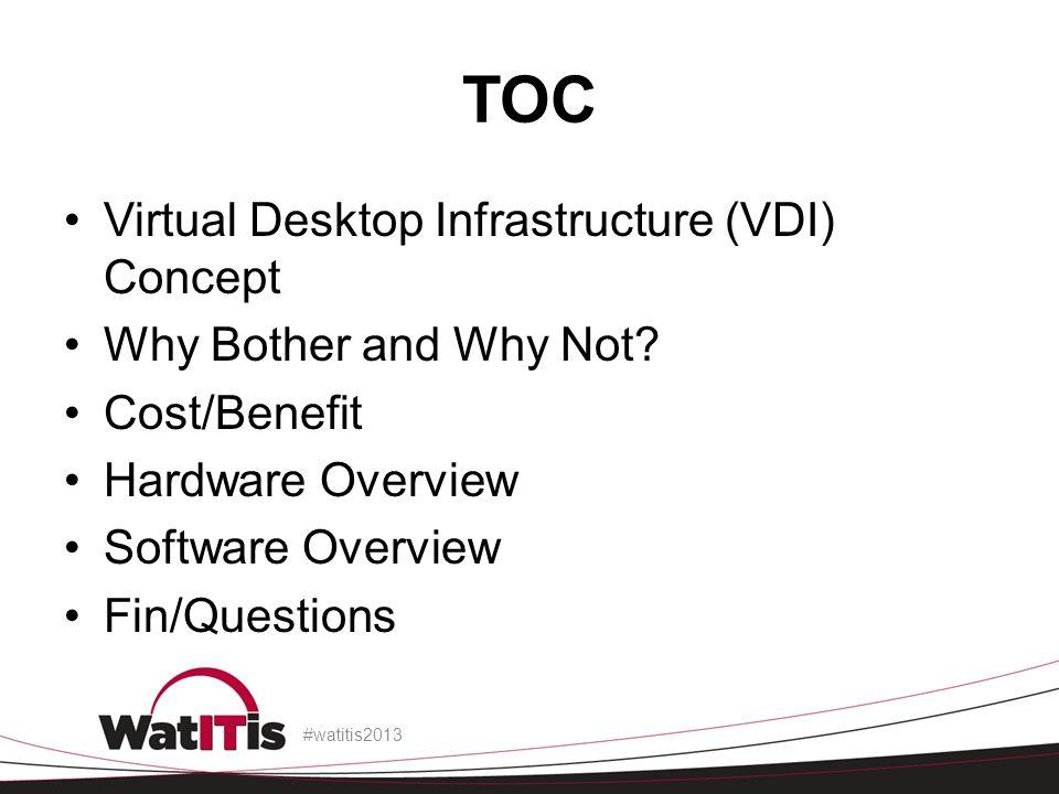 TOC Virtual Desktop Infrastructure (VDI) Concept