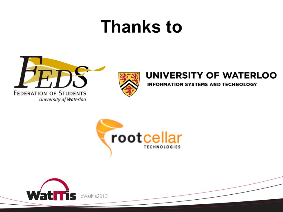 Thanks to -Offer demo units and/or demo accounts. #watitis2013