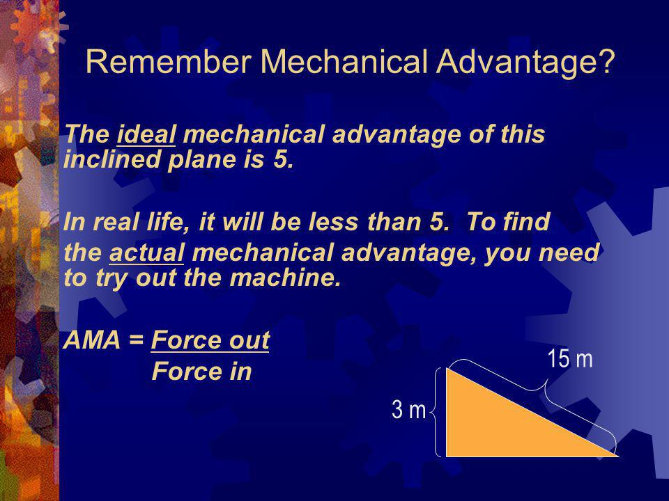 Remember Mechanical Advantage