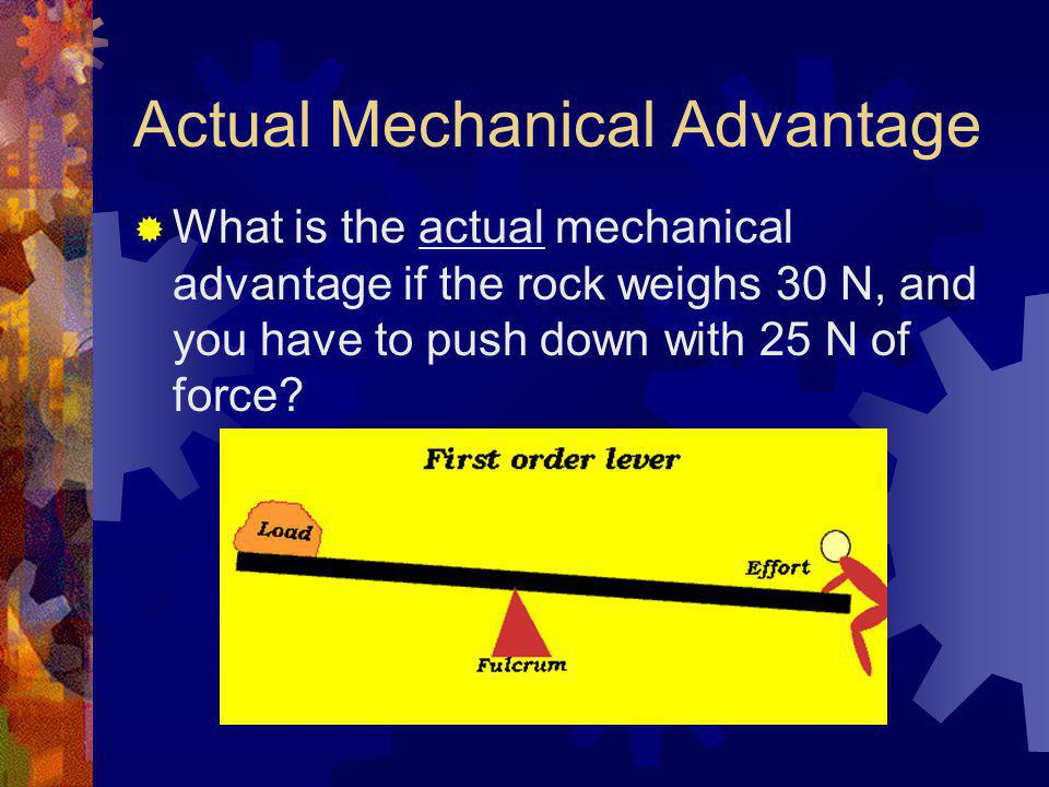 how to find actual mechanical advantage