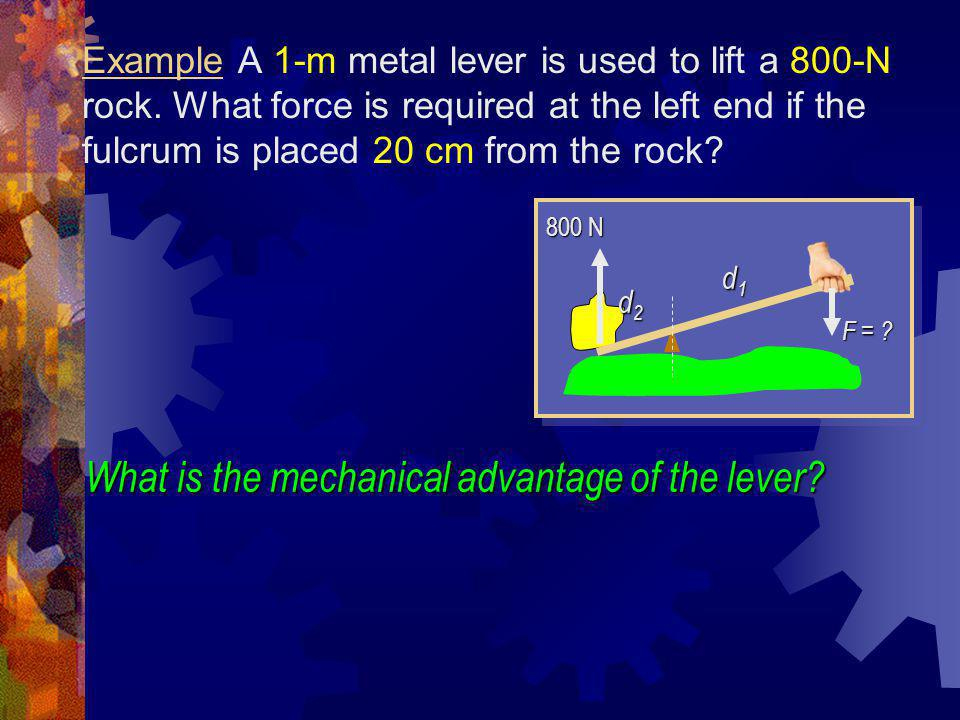 What is the mechanical advantage of the lever