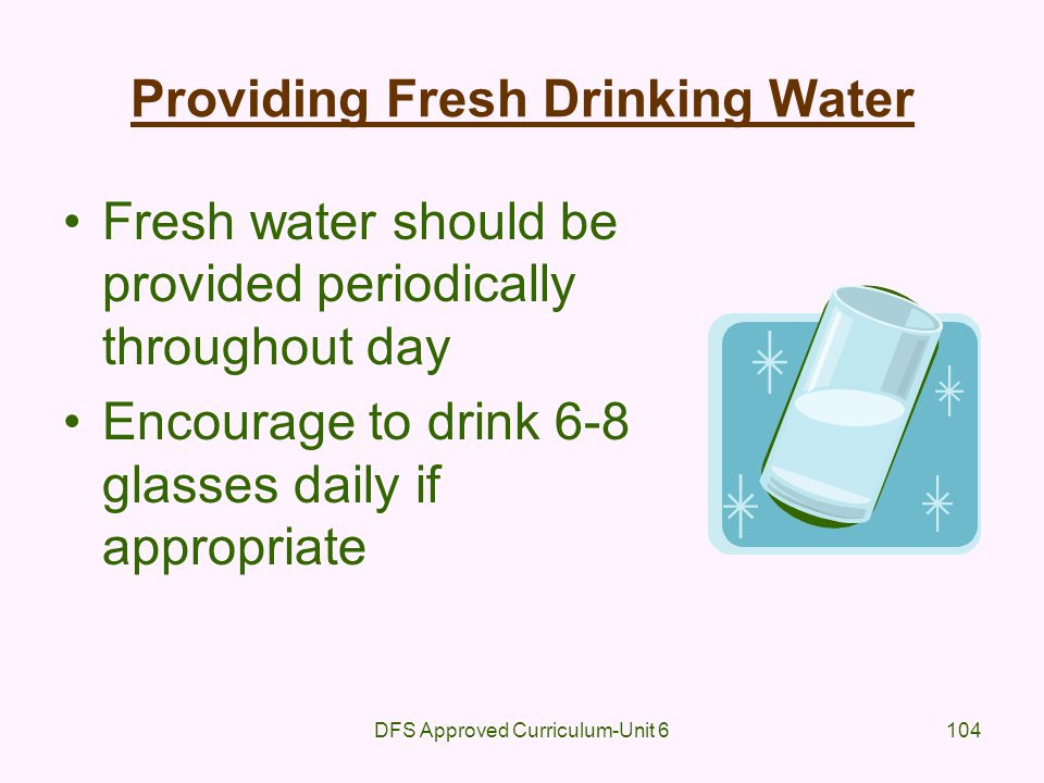 Providing Fresh Drinking Water