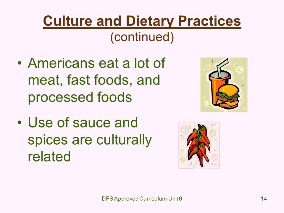 Culture and Dietary Practices (continued)