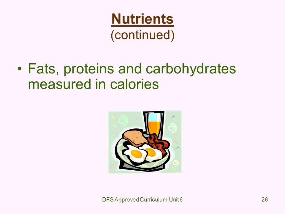 Nutrients (continued)