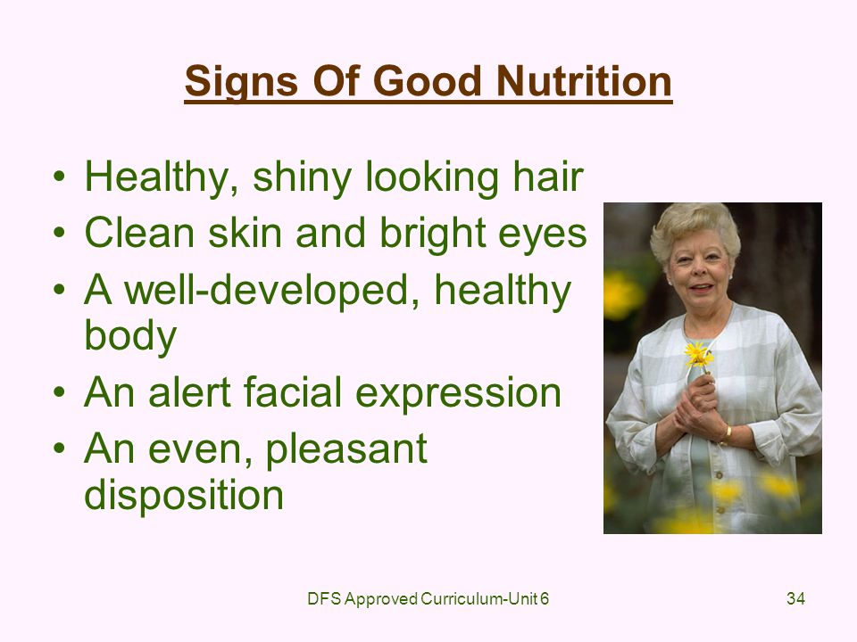Signs Of Good Nutrition