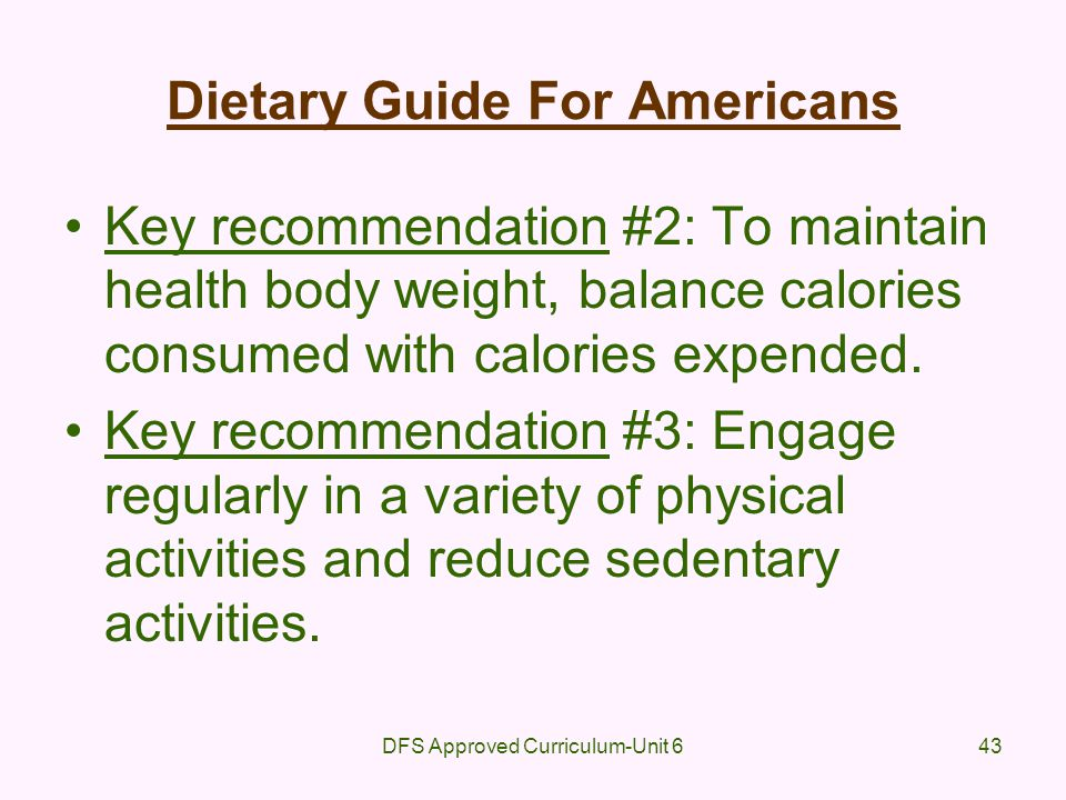 Dietary Guide For Americans