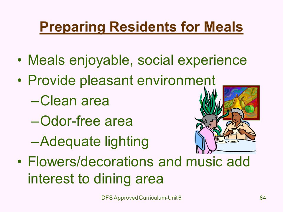 Preparing Residents for Meals