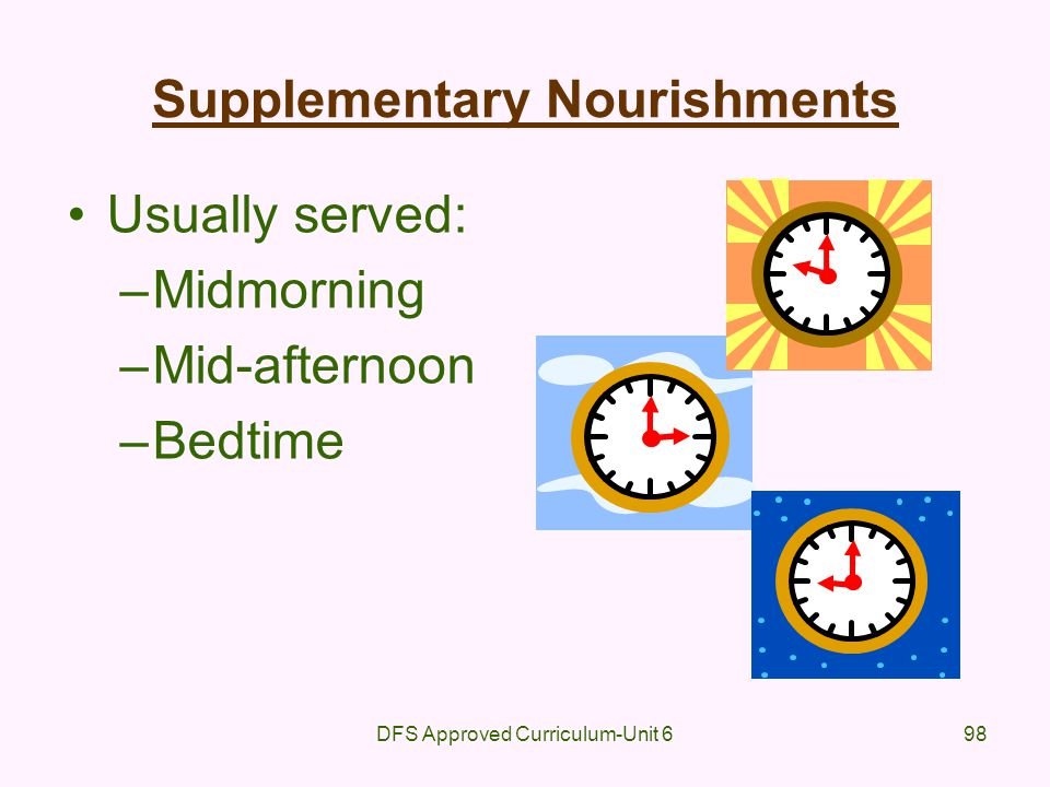Supplementary Nourishments