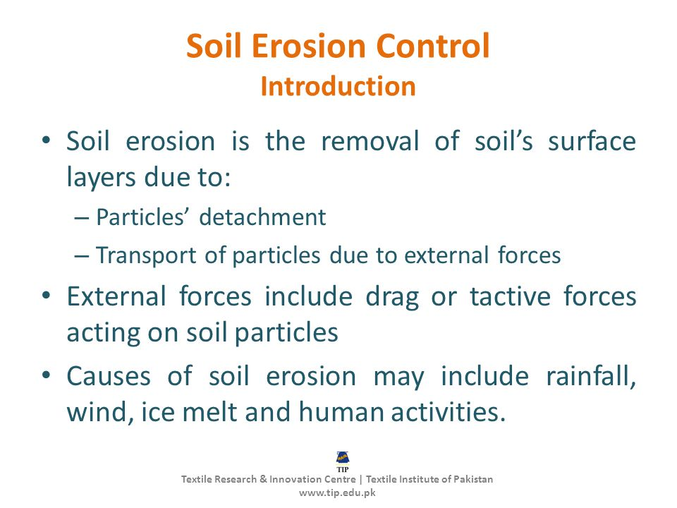 Soil Erosion Control Introduction