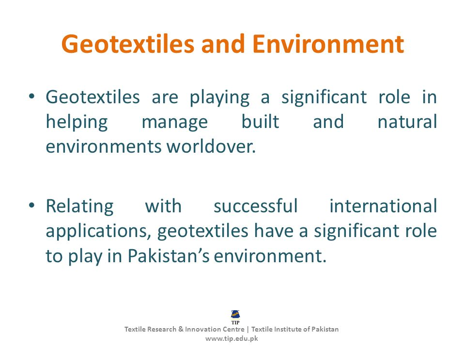 Geotextiles and Environment