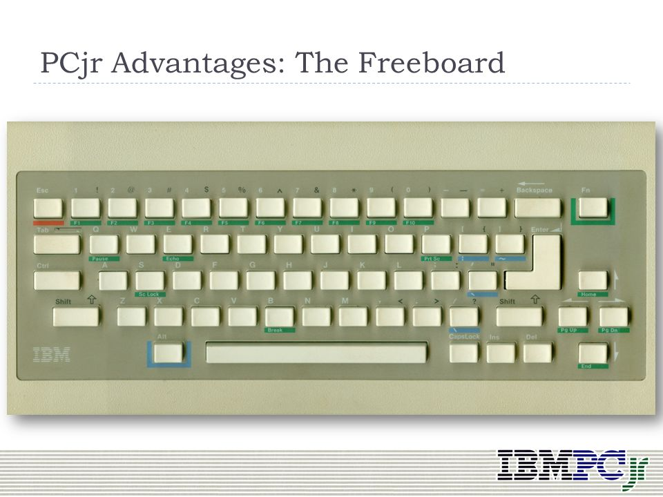 PCjr Advantages: The Freeboard