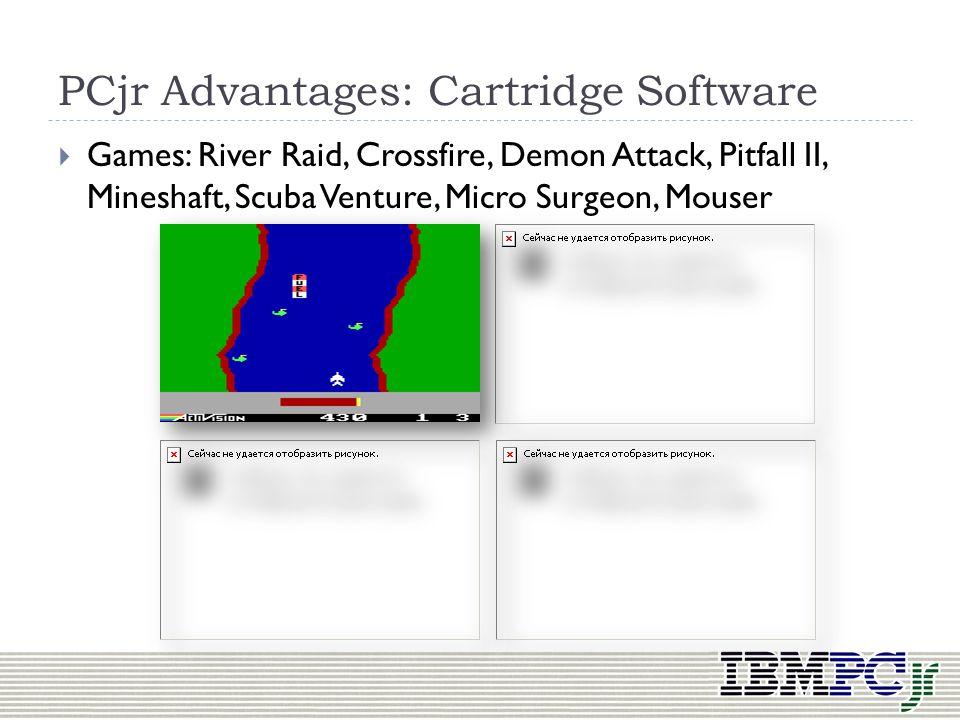 PCjr Advantages: Cartridge Software