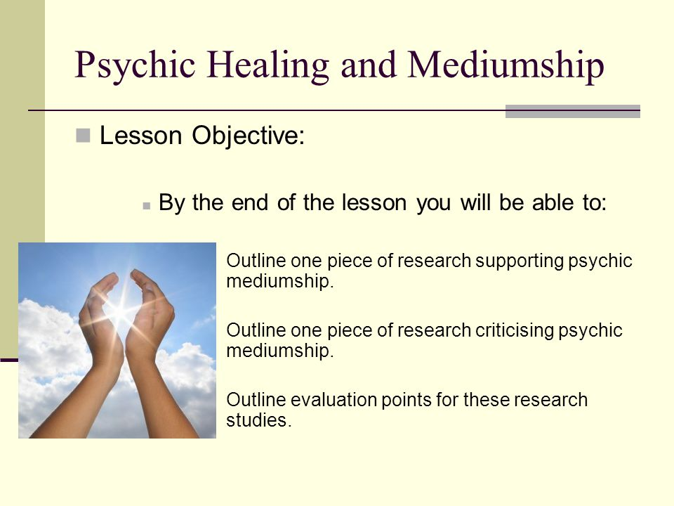 Psychic Healing and Mediumship