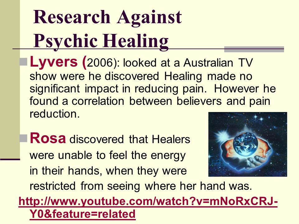 Research Against Psychic Healing
