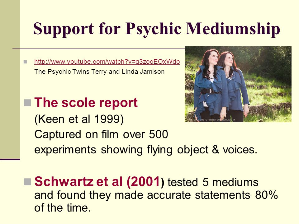 Support for Psychic Mediumship