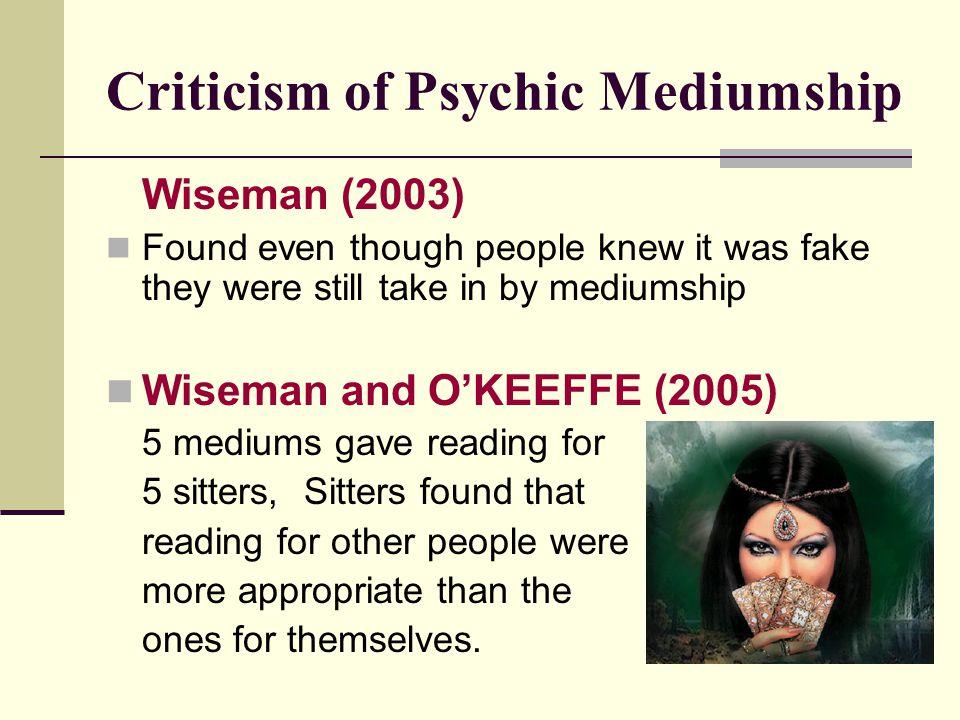 Criticism of Psychic Mediumship