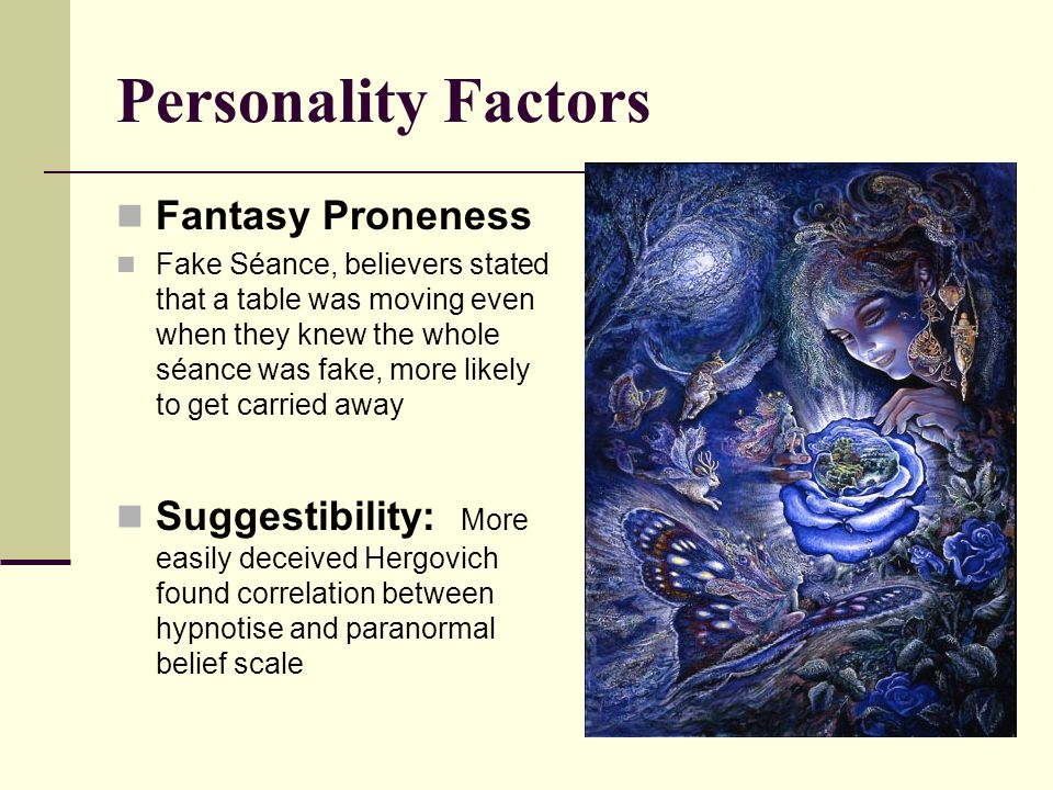Personality Factors Fantasy Proneness