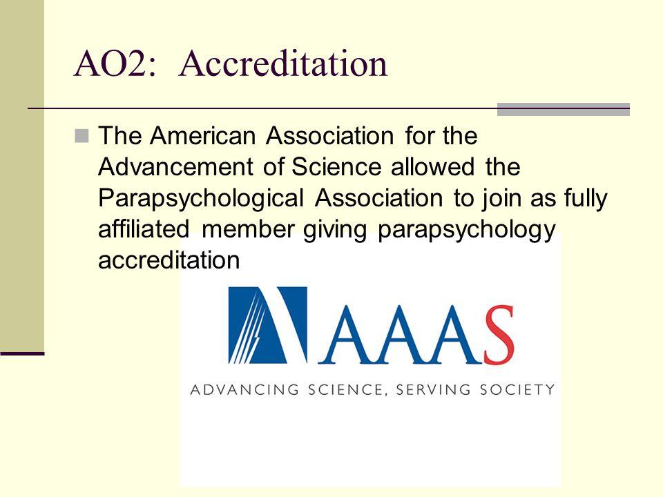 AO2: Accreditation