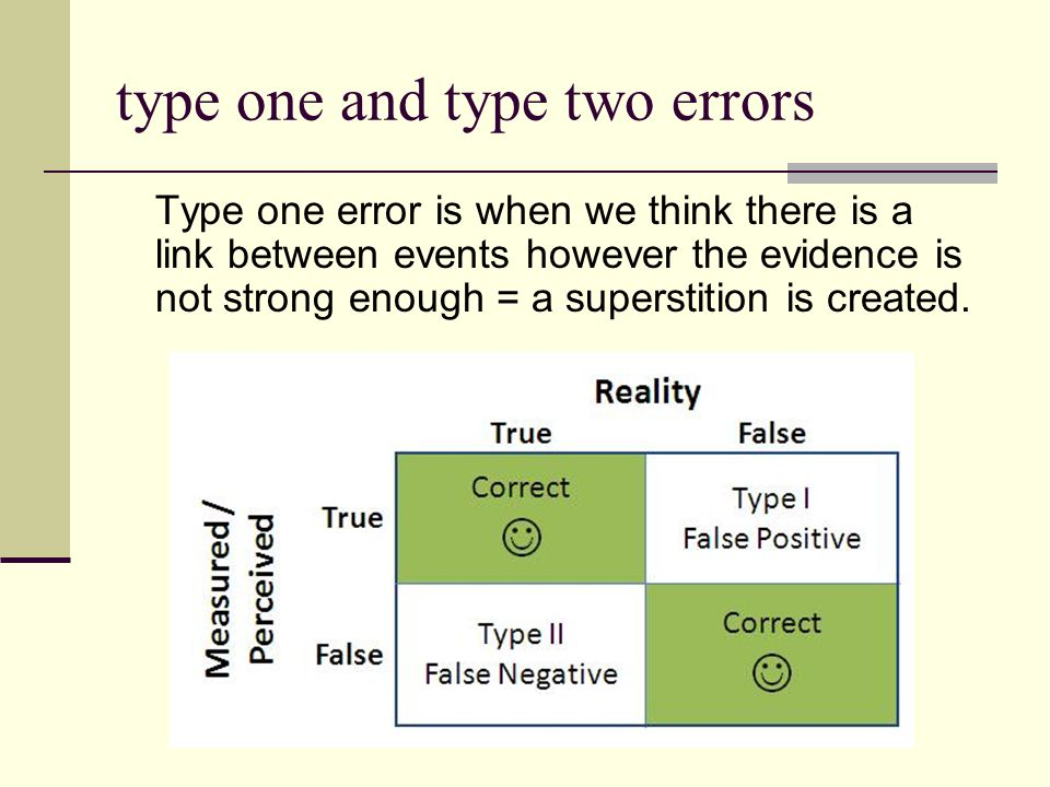 type one and type two errors