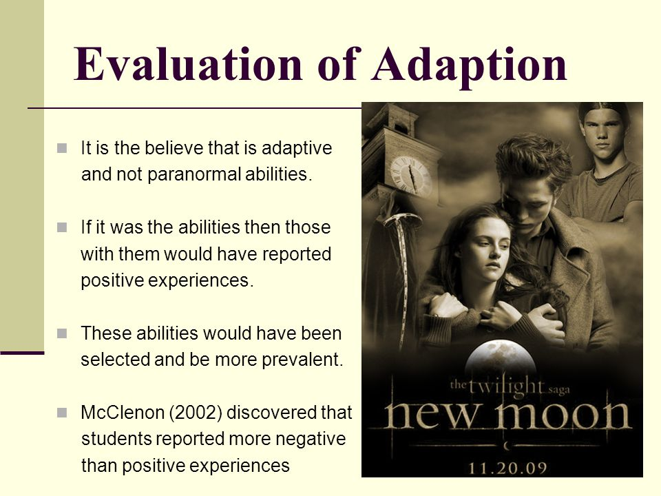 Evaluation of Adaption
