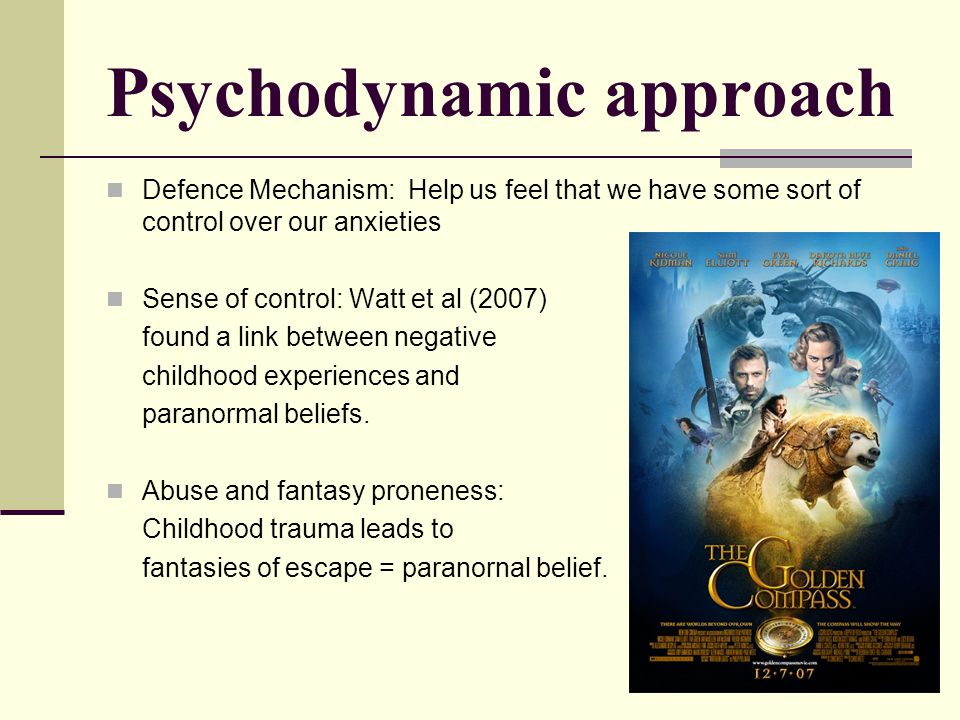 Psychodynamic approach