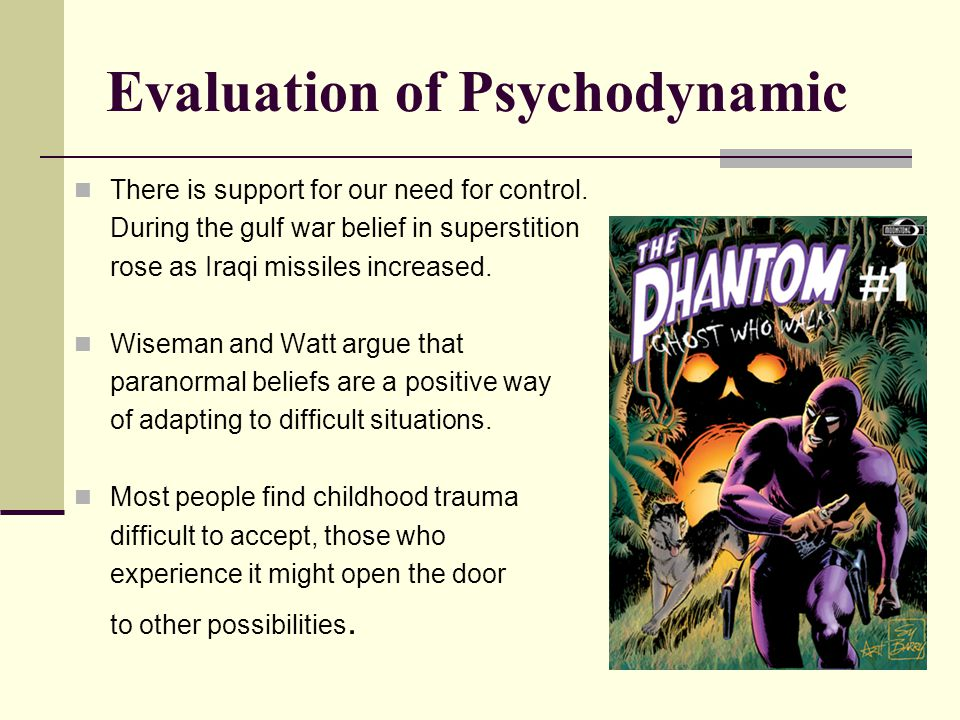 Evaluation of Psychodynamic