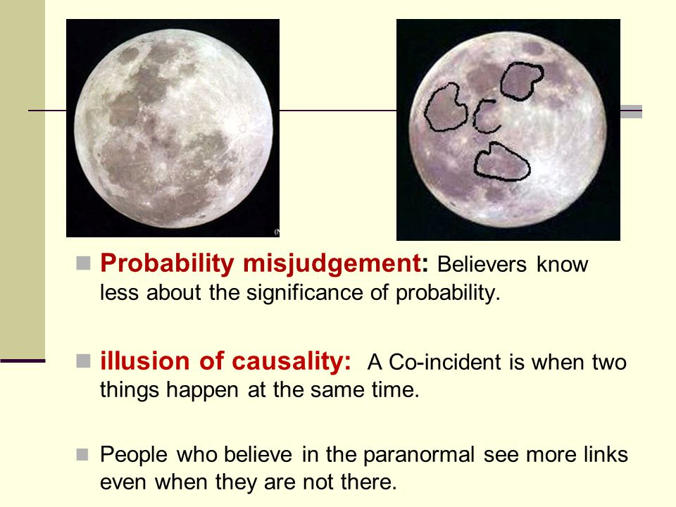 Probability misjudgement: Believers know less about the significance of probability.